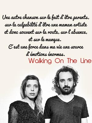 walking on the line paroles cats on trees